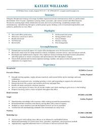 Resume Examples For Receptionist Sample Of Receptionist Resume Free Resume Templates 100 28