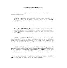 Letter Of Understanding Template Word Military Memorandum Template Promotion Invitation