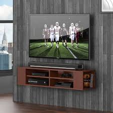 Series 9 Designer Collection 42 Wall Mounted Av Console Wall Mounted Audio Video Console Wood Grain For Xbox One Ps4