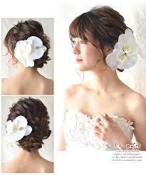 ヘッドドレス 花 ウェディング グラン 胡蝶蘭 3輪 和装 髪飾り 造花 成人式 卒業式 袴 振袖 結婚式 ブライダル