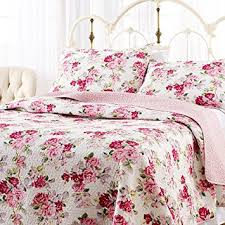 Amazon.com: Laura Ashley Lidia Quilt Set, Pink, Full/Queen: Home ... & Laura Ashley Lidia Quilt Set, Pink, Full/Queen Adamdwight.com