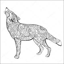 Drawn Wolf Hand Drawn Wolf Side View Stock Vector Son 100689430