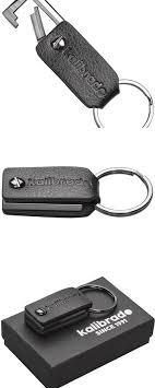 office key holder. Leather Keychain For Men Or Women From Designer Kalibrado With Detachable Key Fob, Holder Office O