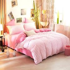 blush pink quilt cover set com soft striped duvet bedding solid full size sheet and