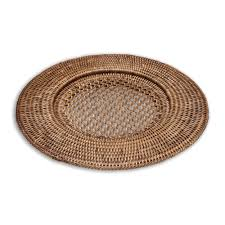 round rattan plate charger