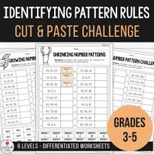 Growing And Shrinking Identifying Pattern Rules In Growing And Shrinking Number Patterns Worksheets