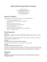 Resume Examples Office Assistant Cocinacolibri Com