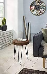 Wohnling <b>Sheesham Solid Wood</b> Side Table 30 x 30 cm: Amazon.co ...