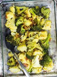 easy roasted broccoli and cauliflower