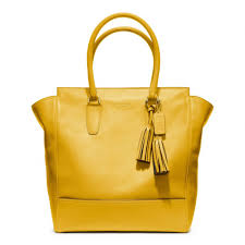 Lyst - Coach Legacy Leather Tanner Tote in Yellow
