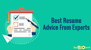 Best Resume Advice From Experts