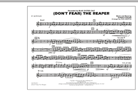 don t fear the reaper sheet music sheet music digital files to print licensed blue oyster cult