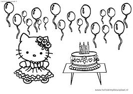 Kleurplaat Hello Kitty