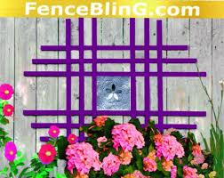 outdoor wall art metal flower insert