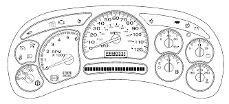 In a 2002 chevy avalanche, what is the circular display called ...