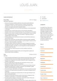 Police Officer Resume Samples And Templates Visualcv