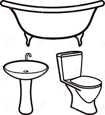 bathtub clipart toilet sink pencil and in color