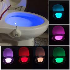 Light Pink Toilet Seat Cover Motion Activated Toilet Night Light Bowl Bathroom Led 8