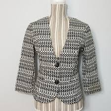 Patterned Blazer Womens Interesting CAbi Jackets Coats Womens 48 Black White Patterned Blazer Poshmark