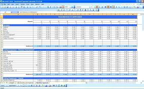 Household Expenses Calculator Monthly Budget Spreadsheet Templates Google Easy Excel For