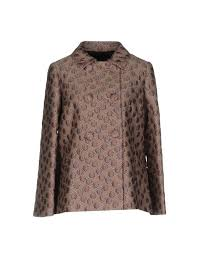 women redvalentino double ted pea coat polyester polyamide wool coats and jackets light purple dj80272