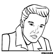 Small Picture Elvis Presley Coloring Page Free Elvis Presley Online Coloring
