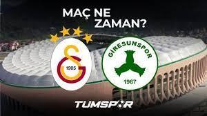 Giresunspor Galatasaray maçı ne zaman saat kaçta hangi kanalda? İşte  Giresun GS maçı 11'leri! - Tüm Spor Haber