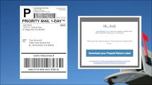 your recipient will receive an email with an easily able prepaid shipping label