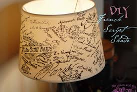 Diy Lampshade The Moon And Me Diy French Script Lampshade Copycat