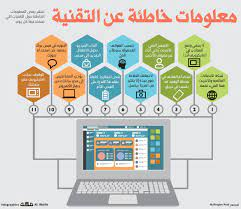 معلومات خاطئة عن التقنية #صحيفة_مكة #انفوجرافيك #تقنية | Infographic,  Makkah, Periodic table