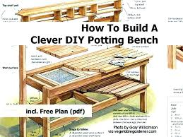 potting bench plans with sink garden potting tables