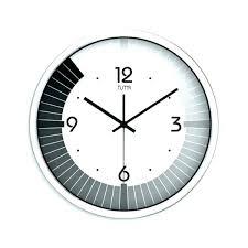 modern black white. Modern White Wall Clock Large Size Black And R