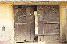 an old wooden door at deepgarh punjab india