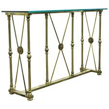 glass form furniture. mastercraft x form brass and glass console table in the neoclassical taste furniture