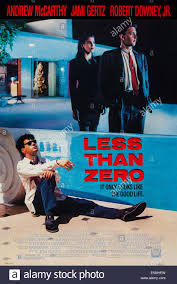 LESS THAN ZERO, US poster art, from left: Robert Downey Jr., Jami Stock  Photo - Alamy