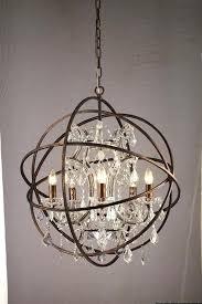 orb crystal chandelier chandelier orb chandelier with crystals rustic orb chandelier font crystal font lighting font