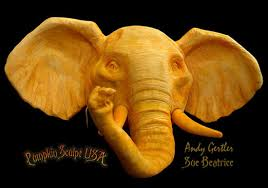 Elephant Pumpkin Carving Pattern New The Marvelous Pumpkin Carvings Of Sue Beatrice Nita's Fruit And