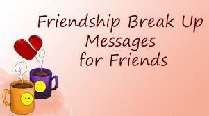 friendship break up messages