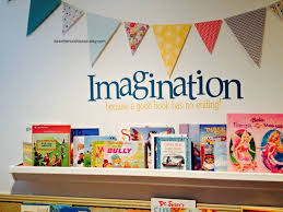 Ideas for Kids Play Room, Rain Gutter Book Shelves, and Library