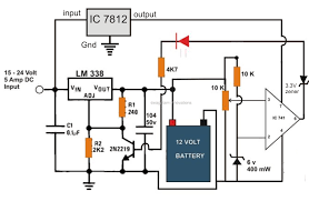 the post explains a 6v, 12v 24v lead acid battery charger circuit 24v battery charger with auto cut-off circuit diagram at 24 Volt Battery Charger Diagram