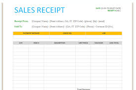 Sales Receipt Template For Word Dotxes