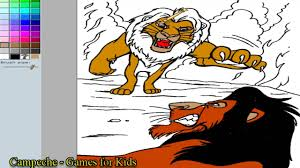 Lion King Online Coloring Pages Adult Simba Versus Scar 159 Youtube