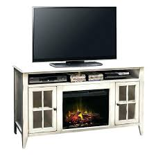 stand with fireplace and soundbar inch rustic white pacer tv
