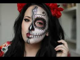 sugar skull day of the dead makeup tutorial 2016
