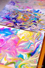 Marbled paper diy shaving cream  FUN  Plus I     m thinking you could write Pinterest
