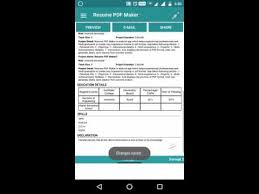 Pdf Resume Builder Resume Pdf Maker Cv Builder Apps On Google Play