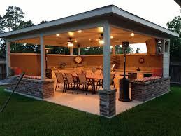 natural stone tiled floor wooden varnished panel outdoor kitchen appealing design center home decor 4