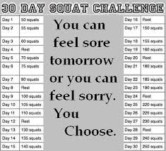 7 Day Squat Challenge Chart Quotes About Squat 96 Quotes