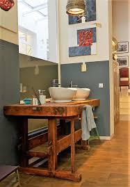 Hobelbank Als Waschtisch Zubehör Restauriert Loft Vintage Von