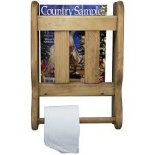Wall Mount Magazine Rack With Toilet Paper Holder Wall Mounted Magazine Rack Bathroom Double Toilet Paper Holder 2